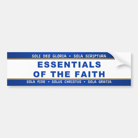 Essentials of the Faith Bumper Sticker