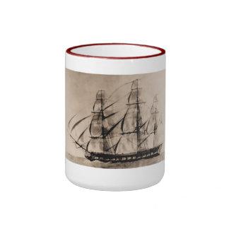 Essex 1800 United States Historic ship Mugs