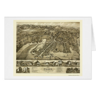 Essex, CT Panoramic Map - 1881 Card