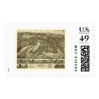 Essex, CT Panoramic Map - 1881 Postage Stamp
