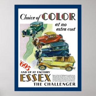 Essex el automóvil del desafiador poster