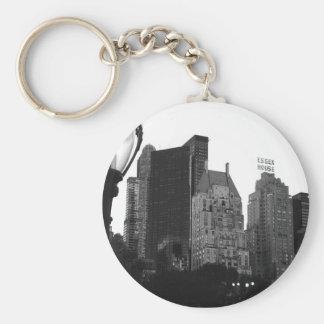Essex House Black & White NYC Keychain