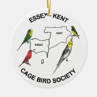 Essex-Kent Cage Bird Society Ceramic Ornament