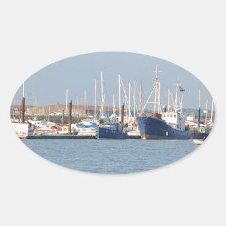 Essex Marina Oval Sticker
