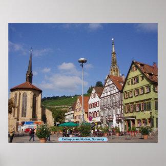 Esslingen Neckar, Alemania Poster