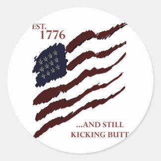 Est 1776 classic round sticker