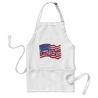 Est. 1776 USA Flag - distressed Aprons