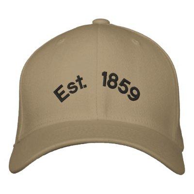 Est.1859 Embroidered Baseball Caps