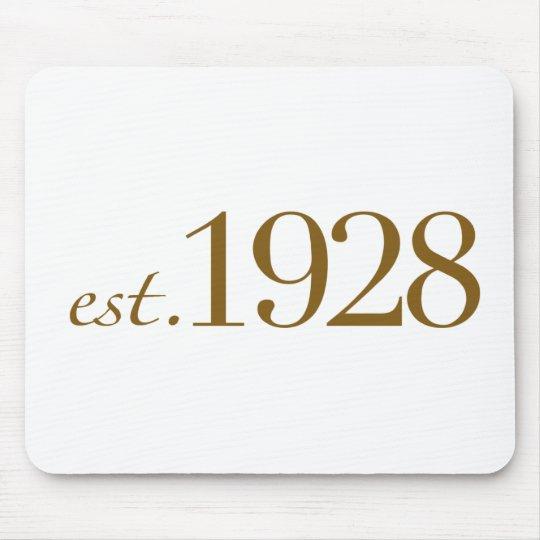 Est 1928 mouse pad