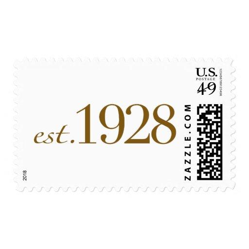 Est 1928 postage