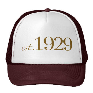 Est 1929 trucker hat