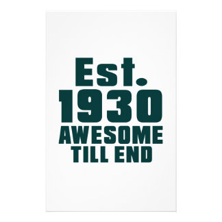 Est. 1930 awesome till end stationery