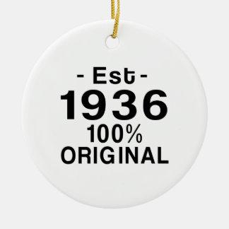 Est. 1936 ceramic ornament