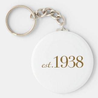 Est 1938 keychain
