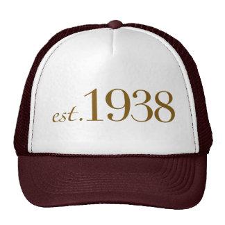 Est 1938 trucker hat