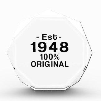 Est. 1948 acrylic award