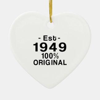 Est. 1949 ceramic ornament