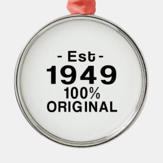 Est. 1949 metal ornament