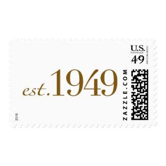 Est 1949 postage stamps