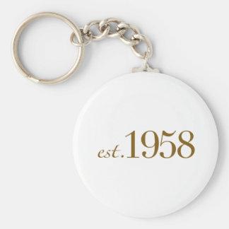 Est 1958 keychain