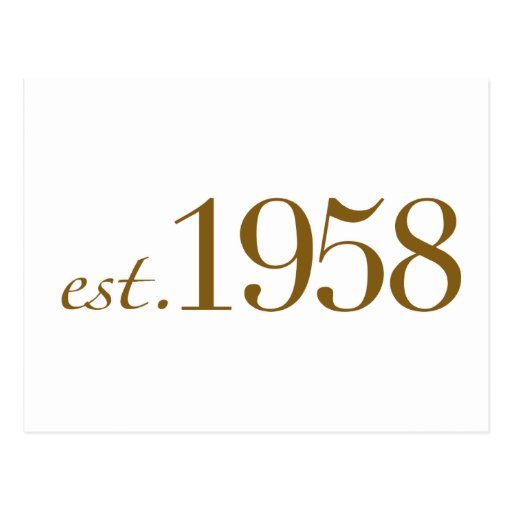 Est 1958 tarjetas postales