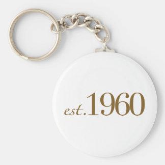 Est 1960 keychain