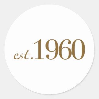 Est 1960 etiquetas redondas