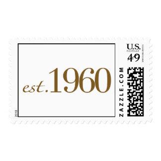 Est 1960 postage