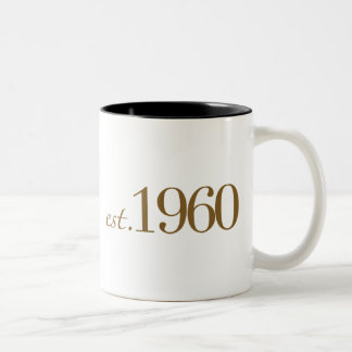 Est 1960 Two-Tone coffee mug