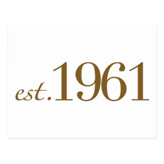 Est 1961 (Birth Year) Postcard