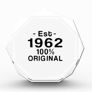Est. 1962 acrylic award