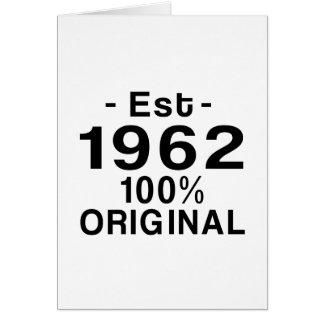 Est. 1962 card