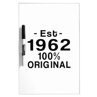 Est. 1962 dry erase board