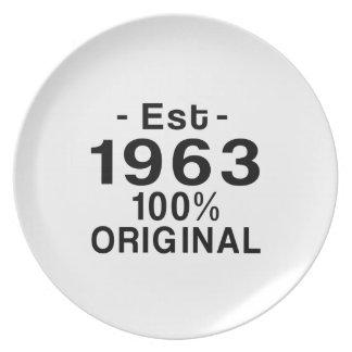 Est. 1963 plato de cena