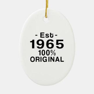 Est. 1965 ceramic ornament