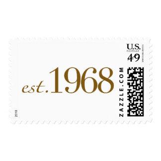 Est 1968 timbre postal