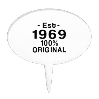 Est. 1969 cake topper