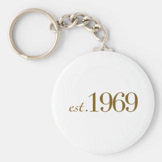 Est 1969 keychain