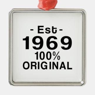 Est. 1969 metal ornament