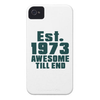Est. 1973 awesome till end iPhone 4 Case-Mate case