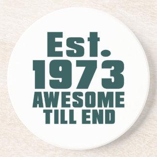 Est. 1973 awesome till end beverage coaster