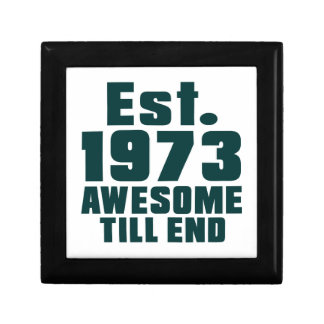 Est. 1973 awesome till end gift boxes