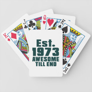 Est. 1973 awesome till end bicycle playing cards