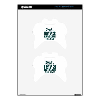 Est. 1973 awesome till end xbox 360 controller skins