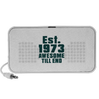 Est. 1973 awesome till end mini speakers