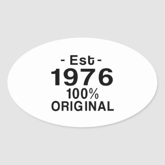 Est. 1976 oval sticker