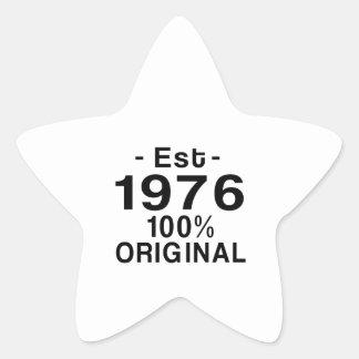 Est. 1976 star sticker
