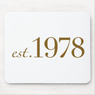 Est 1978 mouse pad