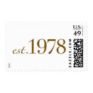 Est 1978 postage stamps