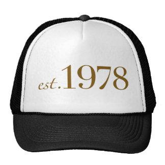 Est 1978 trucker hat